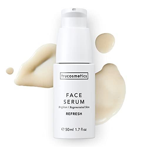 trucosmetics - FACE SERUM REFRESH | Gesichtsserum | regenerierend, glättend, aufhellend | Vitamin-C, Niacinamide, Squalan, Hyaluron | 50 ml