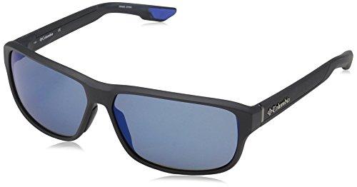 Columbia Men's Ridgestone Rectangular Sunglasses, Matte Shark, 62 mm