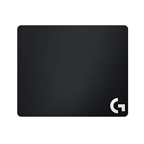 Logitech G240 Gaming-Mauspad aus Stoff, 340x280 mm, 1mm flaches Profil, Geringe Oberflächenreibung, Gleichmäßige Oberflächenstruktur, Gummiunterlage, Zusammenrollbar, Schwarz - Deutsche Verpackung
