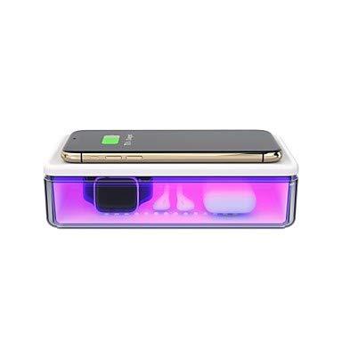 Auto und zu Hause UV-Sterilisator Box Zelle PHP Wireless Ladegerät Mundmaske Schmuck Telefon Zahnbürste Uhr Auto Schlüsselreiniger persönliche Desinfektionsmittel Desinfektionskoffer für