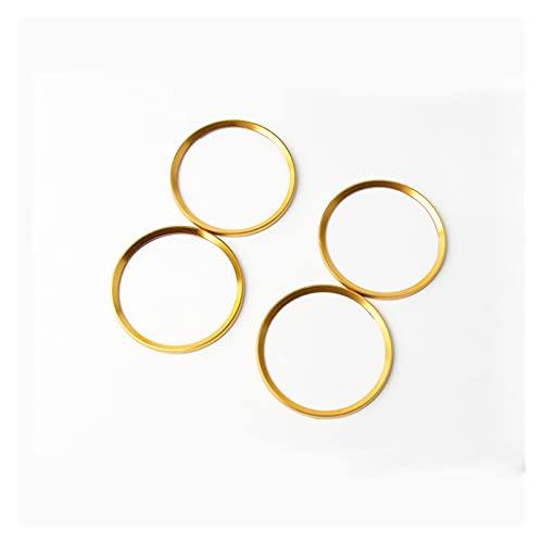 HAN-store Ajuste for el círculo del círculo de la decoración del hub del anillo de la rueda del estilizador de 4x for volkswagen for volkswagen for Vw Ajuste for Magotan Fit for Tiguan Fit for Golf Fi