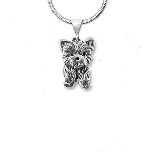 The Magic Zoo Sterling Silver Yorkie Puppy Pendant
