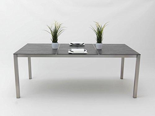 Edelstahl-Tisch Kato 200x100 cm, Tischplatte Keramik