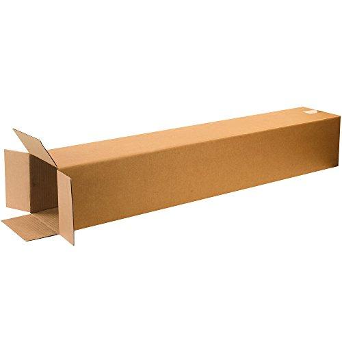 BOX USA B8848 Tall Corrugated Boxes, 8'L x 8'W x 48'H, Kraft (Pack of 20)