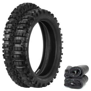 Compatible with Kenda K760 Trakmaster II Dual Sport Tire Set - Fits Honda XR250L SL350K 72-73 XR650L - Tires and Tubes