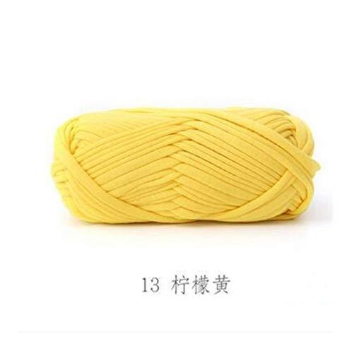 Mrjg Rosen 100g / Lot New Super Soft Thick Chunky-T-Shirt Garn for Stricken Decke Teppich Handtasche Crochet Tuch Garn weiß (Color : 13)