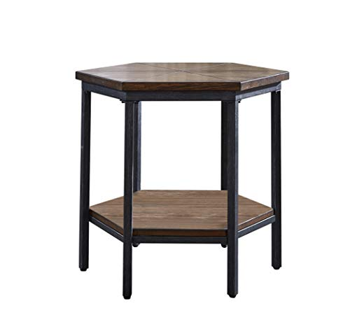 Steve Silver Ultimo Mocha Hexagon End Table