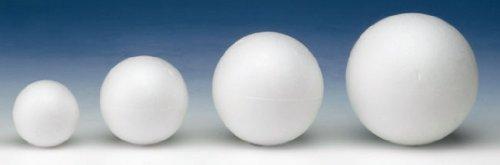 GLOREX Boule de polystyrène Blanc 10 x 10 x 10 cm