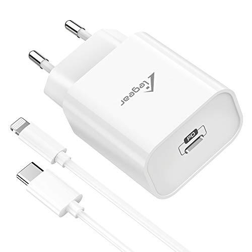 Elegear Caricatore iPhone Quick 20W Caricatore USB C con Cavo USB C a Lightning [Certificato MFi], Power Delivery Caricabatteria Veloce iPhone per iPhone 11/SE/X/XR/XS/8/12/ PRO/iPad