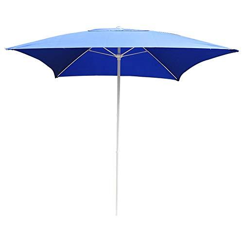 Sombrilla al Aire Libre Sombrilla de jardín 2m × 2m Paraguas Cuadrado Azul Sombrilla de Patio de Ocio Sombrilla Restaurante Alfresco/Protector Solar Impermeable