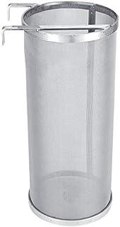 Signstek filtre à vin en acier inoxydable avec double poignée pour maison, filtre 300 microns