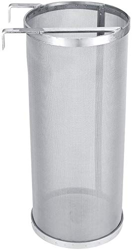 Signstek–Filtro de vino de acero inoxidable con agarre de doble para el hogar cerveza, 300micras filtro cesta