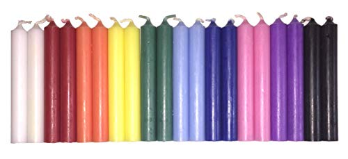 Set of 20 Assorted Colors Mini Ritual Chime/Altar/Spell Candles