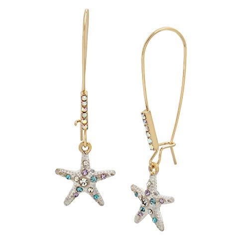 Betsey Johnson Starfish Dangle Earrings