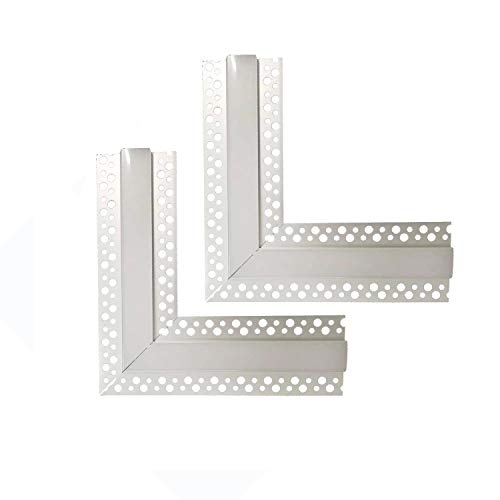 2Pair/4PCS 90 Degree LED Aluminum Channel Corner,Besseto L-Shape Angle Turning Adapter Connector Trimless Recessed Plaster-in LED Aluminum Profile Extrusion Track Fixture for Square/Rectangle