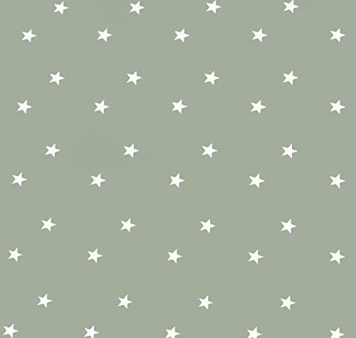 Home Direct Rectangular Oilcloth PVC Wipe Clean Tablecloth 140cm x 200cm 55x78 Stars Sage Green