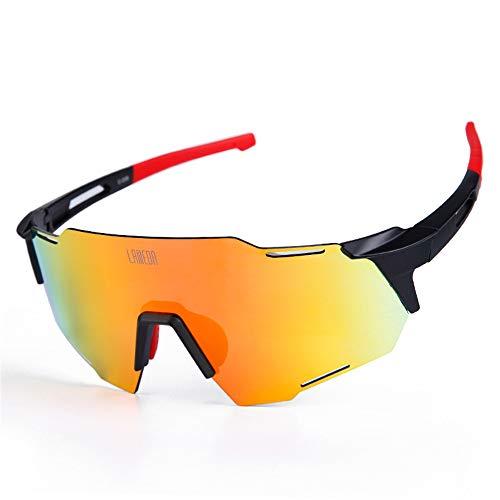 WOXING Polarizadas Hombre Gafas De Sol,Sin Montura HD Gafas De Sol Deportivas,Súper Ligero Vintage Protección UV Antideslumbrantes Gafas,Ciclismo Correr Pesca Esquiando Mujer-C polaridad 17cm(7inch)