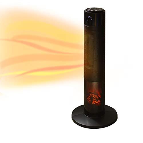 WEIMALL ファンヒーター ヒーター タワー型 暖炉 首振り タイマー 転倒オフ 静音 省エネ 節電 暖房器具