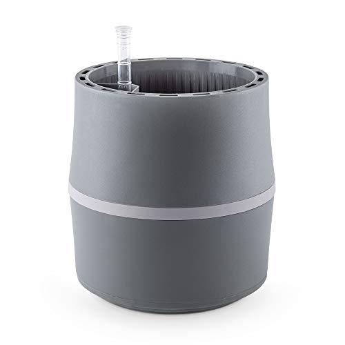 AIRY System S (Ø 22 cm) - Sistema patentado con la fuerza de las plantas como purificador de aire natural y humidificador para interiores - Efecto científicamente demostrado., Gris y gris claro.