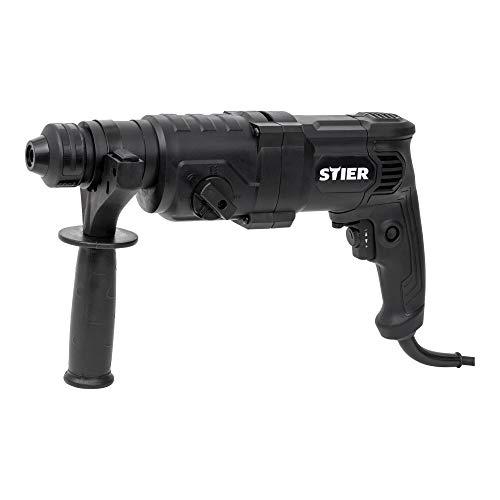 STIER Bohrhammer SHB-T-4900, Hammerbohrer, 800 W, 3,3 J, 0-4900 Schläge/Min, SDS-Plus Aufnahme, 37,0 cm - 9,1 cm - 21,7 cm
