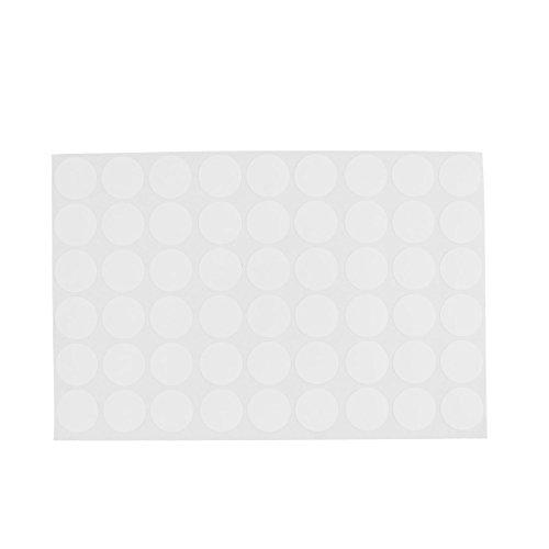 SODIAL(R) Kleiderschrank Schrank Selbstklebend Schraubenabdeckungen Kappen Aufkleber 54 in 1 Weiss