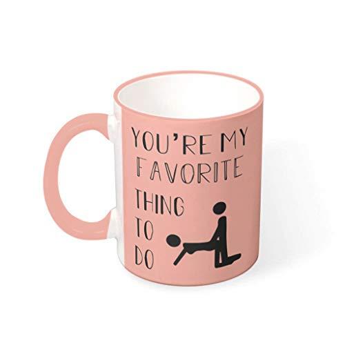 O3XEQ-8 11 Unze Du bist Meine Lieblingsbeschäftigung Becher Porzellan Retro Style Becher Tasse - Lustige Valentinstaggeschenke Frauen Geschenke (Beidseitig Bedrucken) vcbe 330ml
