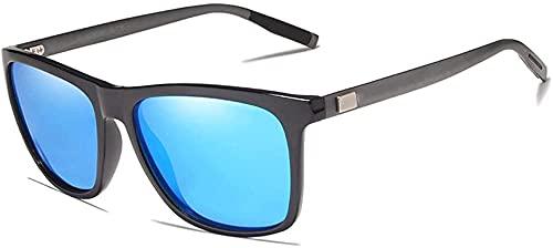 Marco de aluminio gafas de sol hombres polarizadas espejo gafas de sol mujeres S gafas accesorios, negro, azul,