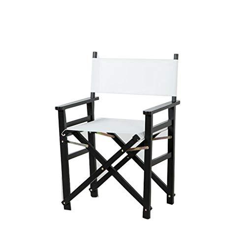 ShJttt-chair or stool Chaise Pliante portative extérieure de Chaise de Directeur de Chaise en Bois de Chaise de Loisirs de Bureau de Barre de Dos (Couleur : Blanc)