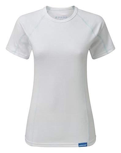 PULSAR BZ1551 - Maglia termica da donna a maniche corte, colore bianco, 18