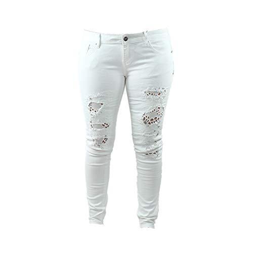 Fracomina Damen Jeans White (Weiß) FR17SPJMARINA1_278 (31)