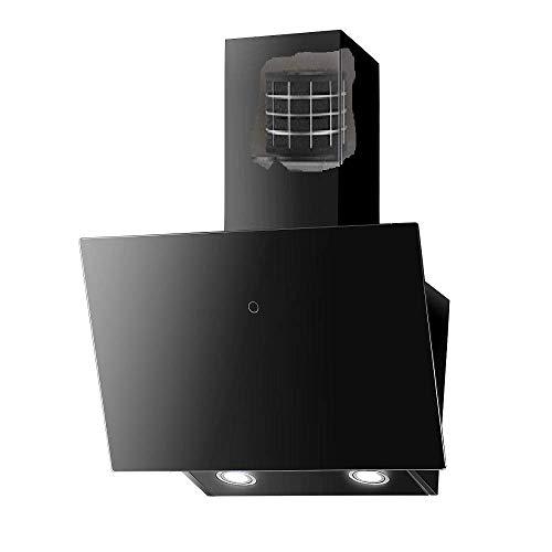 VLANO VALIO MIRA MELIA Plus EEK A+ Kopf-freie Dunstabzugshaube Glas Design/Touch Control/ECO LED/Extra leiser Brushless Motor/Abluft/Umluft (Melia Plus 60 cm PLASMA UMLUFT, schwarz)