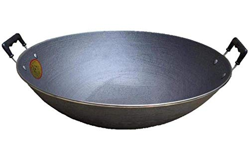 Why Choose Iron Woks,Comfort Healthy Iron Nonstick Uncoated Safe Sauté Pan Wok With Anti-scalding...