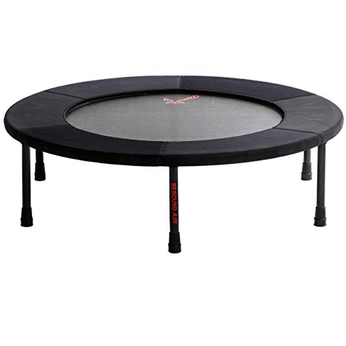 Standard Rebounder by Rebound Air | Foldable Mini Fitness Trampoline for Adults and Kids | Patented Heavy Duty Hinges & Springs with Folding Legs | Includes Workout DVD