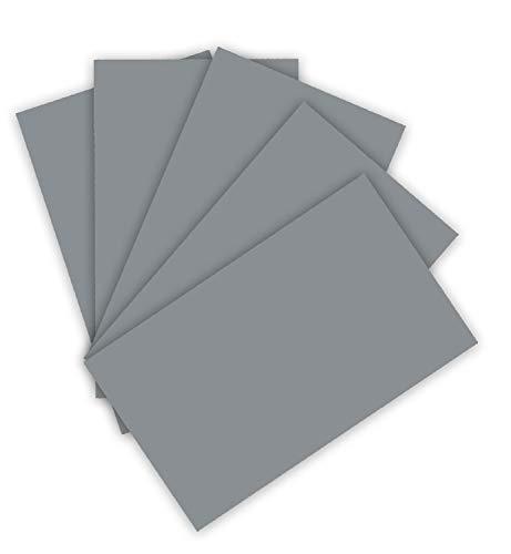folia 6384 - Tonpapier 130 g/m², Tonzeichenpapier in steingrau, DIN A3, 50 Bogen, als Grundlage für zahlreiche Bastelarbeiten