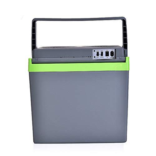 XYBB Mini-koelkast voor de auto, mini-koelkast voor thuis, kleine koelkast met dubbel gebruik, temperatuurbox voor koelkast in de woonkamer 38 * 28 * 29CM Groen
