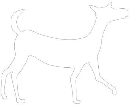 ピクトグラム いぬ B ステッカーデカール (白色 )