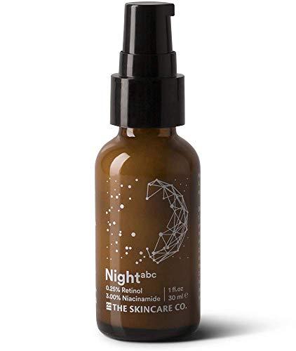 Night - 0.25% Retinol 3% Niacinamide Vitamin A B C E Skin Clearing Anti Aging Complex Night Cream 49% Organic & Vegan for Face, Men & Women 1 oz