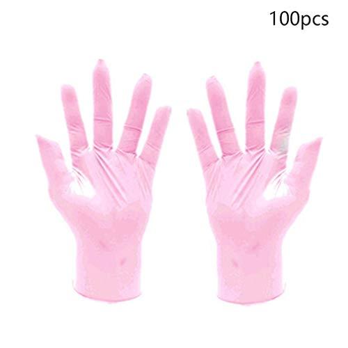 QIFENYEDENG Verschleißfestigkeit Nitril-Einweghandschuhe , Lebensmittel Medizinische Tests Haushaltsreinigung Waschhandschuhe , Antistatische Handschuhe , tragbar und langlebig , l