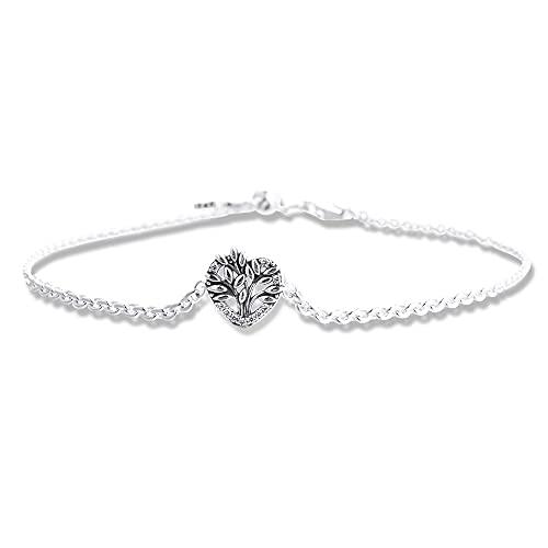 CHICBUY Pulsera de cadena de corazón para mujer, plata 925, ideal para pulseras originales de Pandora (20 cm)