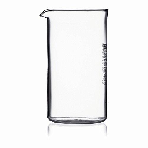Bodum 2 X 1504-10 Spare Beaker Ersatzglas zu Kaffeebereiter 4 Tassen, 0.5 l, ø 9.6 cm, Höhe 12.5 cm