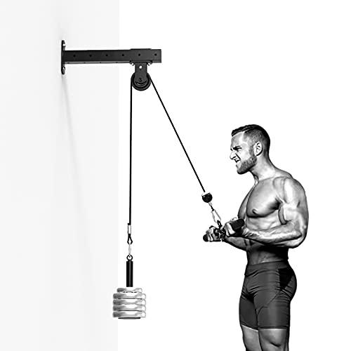 WERTY Polley System Gym Machine Machine Lat Pulseword Adjuntos para el Ejercicio Bíceps Curl, TRICEP Press, Atrás, Antebrazo, Hombro - Equipo de Ejercicio para Ejercicios para el hogar