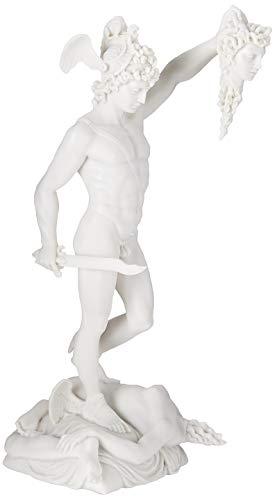 Design Toscano Legato Statua in Marmo Perseo Decapitazione di Medusa, Bianco, 16.5x12.5x30.5 cm (Home)