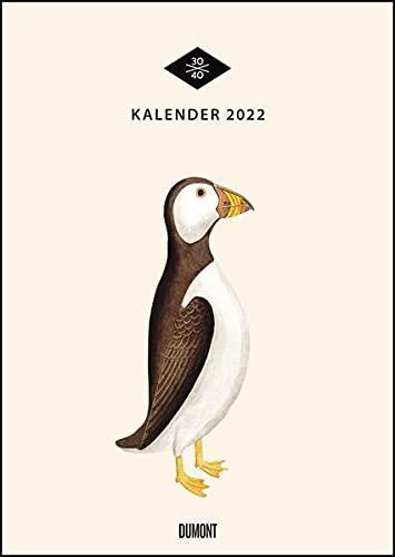 Wandkalender »Menagerie« 2022 – Historische Tier- und -Pflanzen-Zeichnungen modern interpretiert – Von 30x40 – 29,7 x 42 cm – Mit Spiralbindung