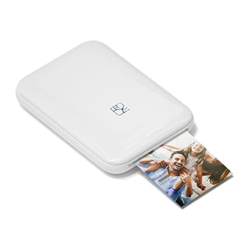 PRT 2x3 Mini Portable Bluetooth Photo Printer MT53,Instant AR Video Printing,Compatible with iPhone/Android (White)