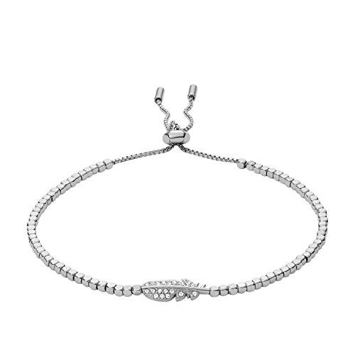 Fossil Damen Armreifen Edelstahl JA6933040, Silber