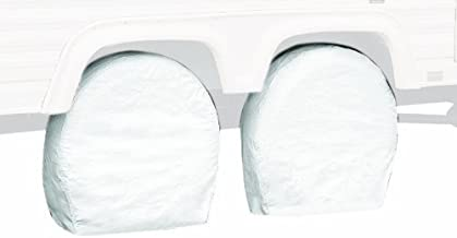 Classic Accessories OverDrive Standard RV & Trailer Wheel Cover, White, for 37