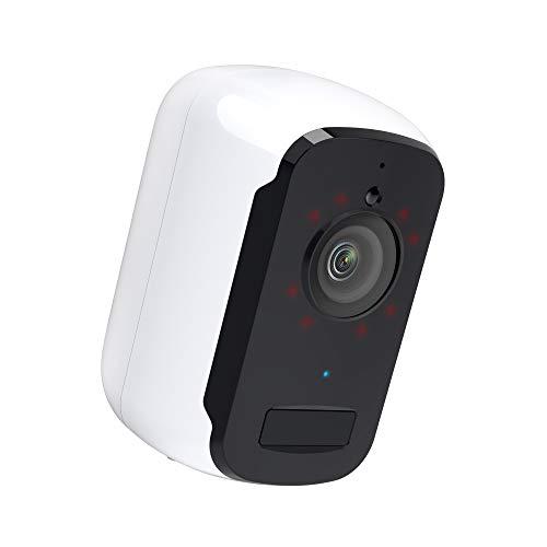 Kabellose Überwachungskamera Akku Aussen/Innen 1080P IP65 WLAN IP Kamera Überwachungskamera mit Aufzeichnung, mit PIR Bewegungsmelder, Nachtsicht Modus, Zwei Wege Audio, Cloud-Speicher/SD-Steckplatz