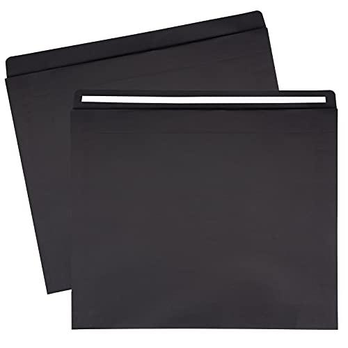 RUSPEPA Pappersbrevpåsar självförseglande kuvert Mailer – 25-pack – 38,5 x 8 x 46,5 cm – svart