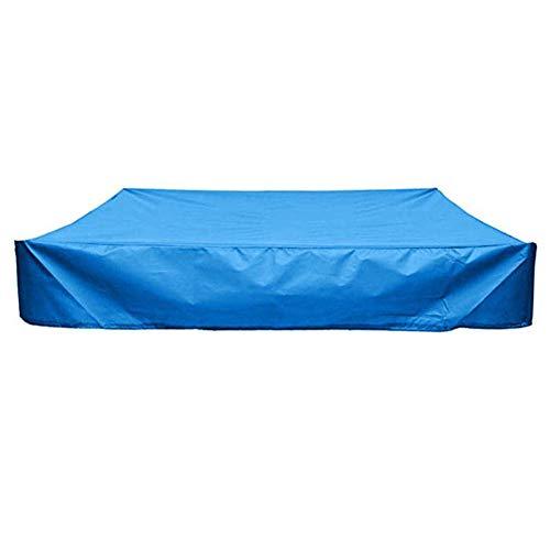 Sandkasten Deckel, Platz Staubdichtes Sandbox Deckel Mit Kordelzug, Wasserdicht Sandpit Pool-Abdeckung, Durable, Reißfest, Vermeiden Sie Sand Und Spielzeug Umweltverschmutzung. (120 x 120 cm,Blau)
