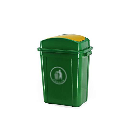 LJ-KK SZQ-Mülltonnen Indoor Trash Can, Flip Kunststoff Trash Can Multifunktions-Geschäft Abfalleimer for Wohnzimmer Schlafzimmer Hotel Große Kapazität Trash Can, für Hotel/Straße